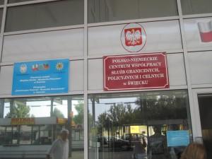 Das Deutsch-Polnische-Lagezentrum von Zoll, Bundespolizei und Landespolizeien in S`wiecko (Polen)